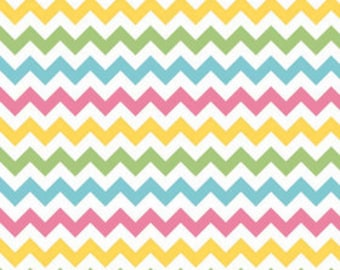 Riley Blake Medium Chevron Girl Fabric, 1 yard