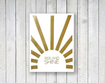 """Rise and Shine 8x10"""" screenprint"""