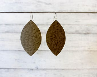 Leather Earrings, Drop Statement Earrings, Everyday Earrings, Lightweight Earrings, Gift For Her, Long Statement Earrings, Boho Earrings