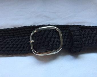 "Black paracord belt (fits 32""-34"")"