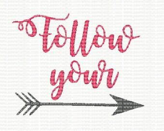 Follow Your Arrow Embroidery Design, Follow Your Arrow embroidery, Follow Your Arrow stitch, embroidery, Follow Your Arrow, Arrow, Tribal