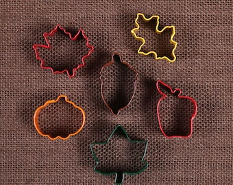 Mini Fall Cookie Cutter Set, Thanksgiving Cookie Cutters, Acorn Cookie Cutters, Squirrel Cookie Cutters, Leaf Cookie Cutters, Pumpkin Cutter