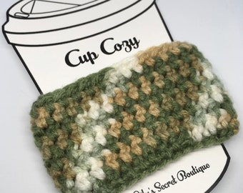 Sage Butter Cozy, Cup Cozy, Coffee Cup Cozy, Cup Sleeve, Drink Cozy, Beverage Cozy