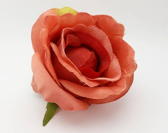 Artificial Roses, 3-5 Pieces, Coral Rose, Rose Head Set, Craft Supplies, Faux Flower, Real Looking Fake Rose, Supplies For Party Arrangement