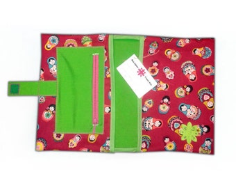 Bolsa porta pañales y toallitas con bolsillo