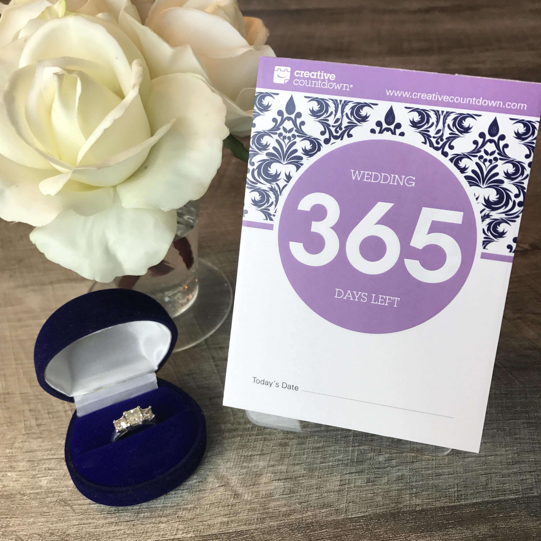 countdown zur hochzeit 365 tage abrei kalender eine. Black Bedroom Furniture Sets. Home Design Ideas