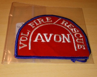 USED AVON VOLUNTEER Fire/ Rescue Patch