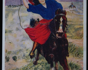 Vintage Cowgirl Postcard A Daughter of the West