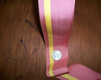 vintage millinery ribbon in beautiful colors stripe