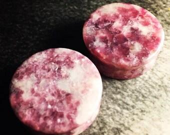 Premium Organic Moondevite Stone Plugs | Double Flare | 5mm-25mm | 1 Pair |