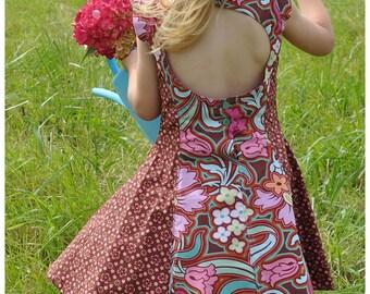 Juliette's Dress - 2-10Y- PDF Pattern and Instructions - paneled dress, open back, petticoat