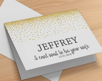 I Cant Wait To Marry You- See You At The Alter Card- Groom Wedding Day Card- To My Groom Card- I Cant Wait To Be Your Wife Card- To My Bride