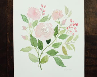 Faded Rose 10x12 Watercolor Painting