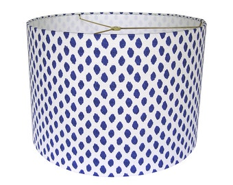 Lamp Shade Lampshade Sahara Ikat Dots by Lacefield Designs in Midnight Made to Order