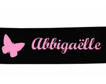 Black baby butterfly personalized with name banner