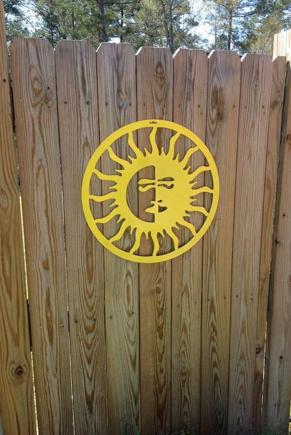 Sun/Moon Outdoor Art Pool Art Custom Metal Art Metal Wall