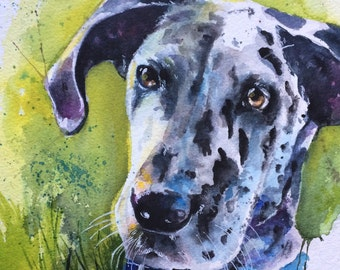 Custom pet dog painting from your photo