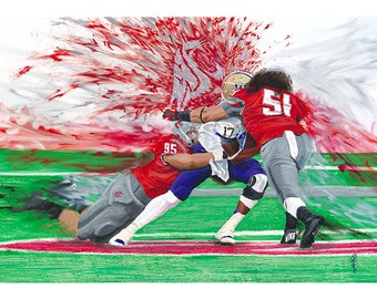 "WSU Cougars 12x18 Print, ""Cougars 2012 Apple Cup"", by Ryan O'Keefe"