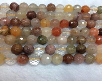 10mm Round Cut Quartz Rutilated Mix Bead Semiprecious Gemstone Bead String Beading 15''L Jewelry Supply Wholesale Beads