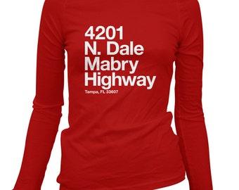 Women's Tampa Bay Football Stadium Long Sleeve Tee - LS Ladies T-shirt - S M L XL 2x - Tampa Florida Shirt, Sports, Fan - 3 Colors