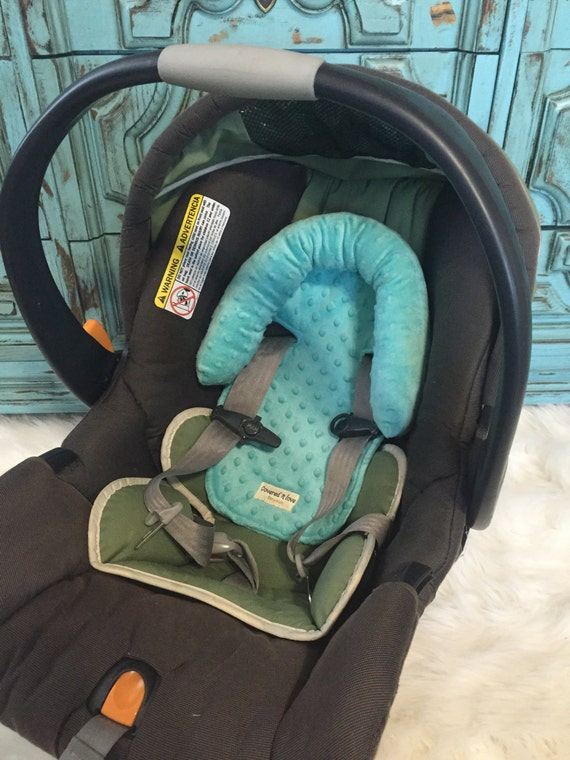 car seat headrest YOU pick color / head rest / head support / minky head support / neck support