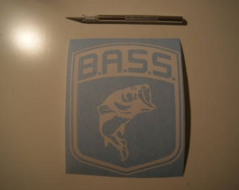 Pro Bass fisherman, fishing, bass, decal