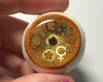 35mm Clockwork Steampunk Urethane Eye for Villitunes Mizuki Cyclops