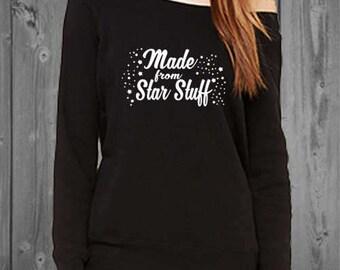 Made From Star Stuff Womens Off shoulder sweatshirt