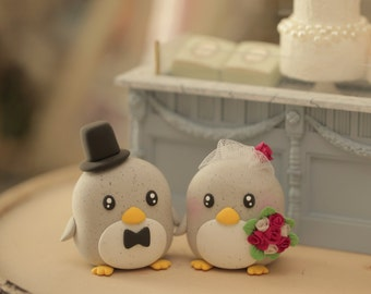 Penguin Wedding Cake Topper Bride & Groom Penguins Penguin