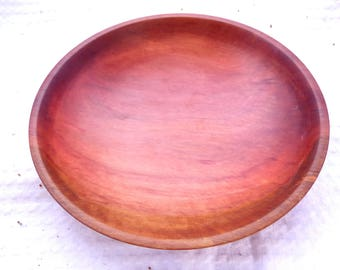 Wood turned Dish (Pink Myrtle)