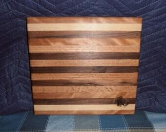 Walnut, Maple and Mahogany Bread Board