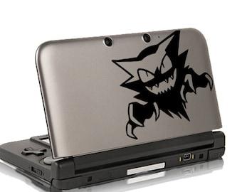 Haunter Decal  3ds Decal - Pokemon Vinyl Decal - Pokemon Fridge Decal - iPad Sticker - Macbook Decal