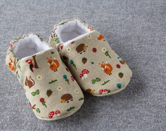 Forest friends, soft sole pre walker baby shoe