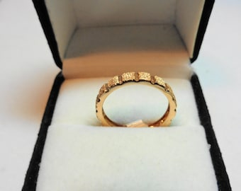 Rose Gold Band Solid 14kt.