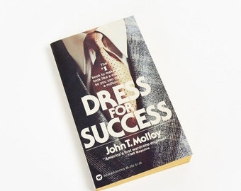 Shop SALE Dress for Success by John Molloy 1976 Pb, Look Like A Million So You Can Make A Million, Vintage 1970s Mens Fashion How To Book