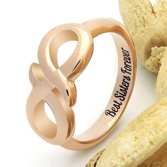 Infinity Ring For Sister Promise Ring Infinity Symbol Ring
