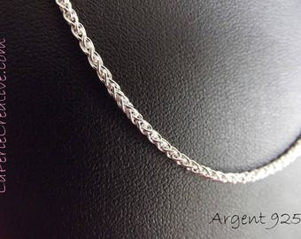Chain twisted 925 sterling silver spike