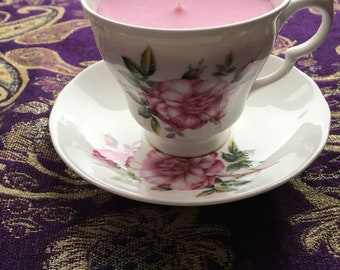March Hare teacup Candle