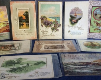 """Lot of 10 Vintage Occasion Themed Postcards - 3.5"""" x 5.5"""""""