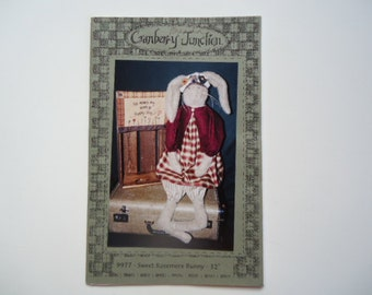 Bunny Rabbit Hare Craft Pattern and Embroidery Cranberry Junction