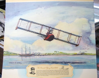 1914 Tom Benoist First Flying Boat Built in Sandusky OH Antique Aircraft Biplane
