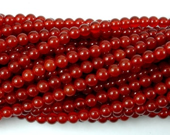 Carnelian Beads, Round, 4mm (4.4mm), 15.5 Inch, Full strand, Approx 95 beads, Hole 0.8 mm, A quality (182054001)