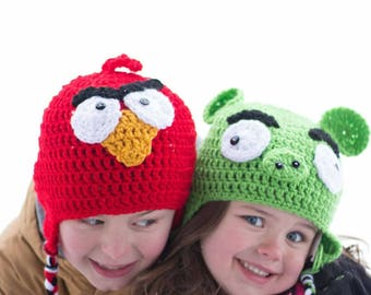 Bad Piggy Hat, Angry Bird Hat inspired, angry pig, newborn, baby, child, toddler, teen, adult, piggy photo prop,