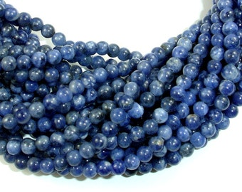 Sodalite Beads, 4mm Round Beads, 16 Inch, Full strand, Approx 100 beads, Hole 0.8 mm, A quality (411054007)