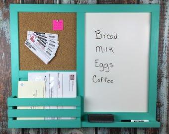 unusual design magnetic bulletin board. Kitchen Organizer  Dry Erase Board Bulletin Mail Holder Office erase board Etsy