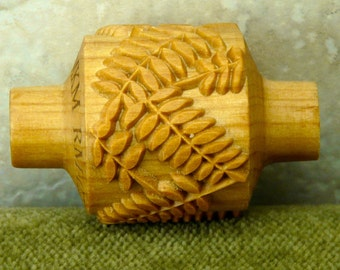 WD  FERN LEAVES 3.0 cm Design Texture Roller for Clay, Pottery, Ceramic  MKM026