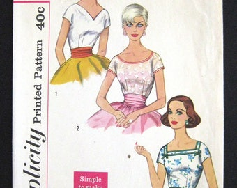 1958 Simplicity 2511 pattern Misses BLOUSE size 16 bust 36 cut complete sewing pattern