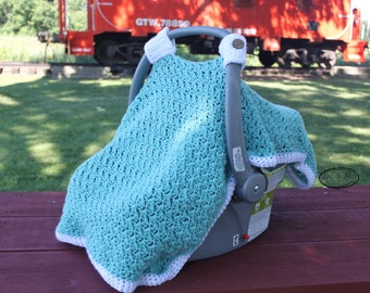 Crochet Pattern for Charleston Car Seat Cover baby blanket pattern
