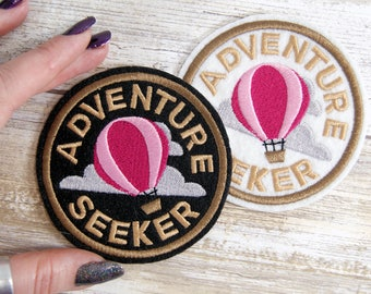 Adventure Seeker Round Merit Badge Iron On Embroidery Patch MTCoffinz - Choose Size/ Color