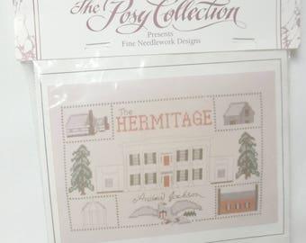 Andrew Jackson Hermitage Cross Stitch Kit, Vintage Sampler, Historic Home